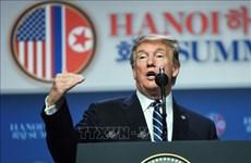 美朝领导人第二次会晤:美国总统唐纳德·特朗普召开记者会(组图)