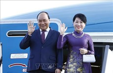 越南政府总理阮春福抵达圣彼得堡市 开始访俄之行(组图)