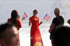 美朝领导人第二次会晤:越南人热烈欢迎  会晤外边氛围逐步升温(组图)