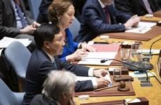 越南与联合国安理会:政府副总理兼外长范平明主持公开辩论会