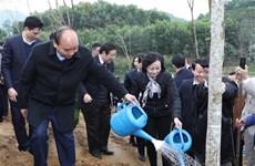 """越南政府总理阮春福在安沛省发起""""世代铭记胡伯伯功劳的植树节""""活动"""
