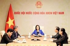 国会主席阮氏金银与老挝国会主席巴妮举行电话会谈
