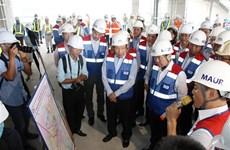 越南政府副总理范平明考察滨城--仙泉地铁线施工项目