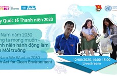 越南年轻人采取行动打造干净整洁无污染的环境