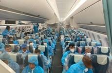 在国外工作的3000多名越南劳动者被安全接回国