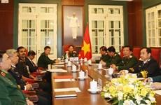 越南国防部长吴春历与印度国防部长视频通话