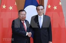 中国总理李克强会见老挝人民革命党总书记、国家主席本扬
