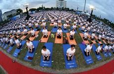 1200人参加岘港市集体瑜伽表演(组图)