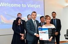 越捷航空公司与空客公司签署20架A321XLR客机订购合同