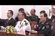越中边境国防友好交流活动加强两国军队力量团结友谊
