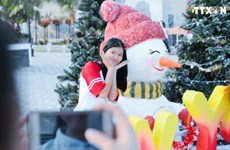 越南全国各地纷纷举行庆圣诞娱乐活动