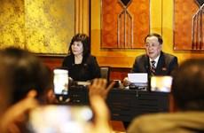 朝鲜深夜在河内召开新闻发布会