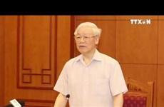越共第十三次全国代表大会讨论人事问题