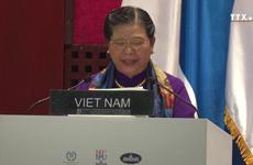 越南国会常务副主席丛氏放在IPU 141上发言