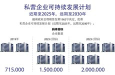 图表新闻:私营企业可持续发展计划 近期至2025年,远期至2030年