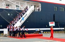 东南亚与日本青年船迎接仪式在胡志明市举行