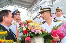 日本海上自卫队扫雷母舰代表团对岘港市进行访问