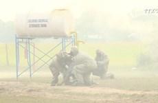 越南-柬埔寨陆地边界地区搜救演习成功举行