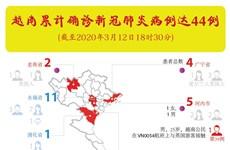 图表新闻:越南累计确诊新冠肺炎病例达44例