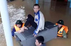 广平省各阶层人民全力应对暴雨洪涝灾害