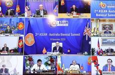 组图:第二次东盟-澳大利亚领导人会议在线召开