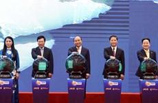 组图:政府总理阮春福与新加坡总理李显龙正式启动东盟智能物流网络