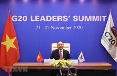组图:政府总理阮春福出席二十国集团领导人峰会第二阶段会议