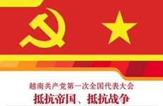图表新闻:越南共产党第一次全国代表大会:抵抗帝国、抵抗战争
