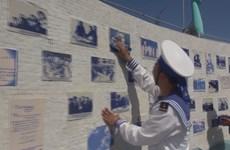 有幸在长沙群岛投票选举的士兵