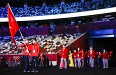 组图:2020年东京奥运会开幕式中越南代表团入场仪式