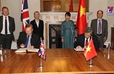 越南与英国正式签署《越英自由贸易协定》