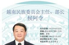 图表新闻:候阿令被任命为越南民族委员会主任、部长