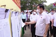 国会主席王廷惠视察宣光省换届选举准备工作