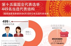 图表新闻:第十五届国会代表选举结果出炉  449名当选国会代表