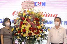 组图:越南革命新闻日:中央宣教部部长向越通社记者致以祝贺