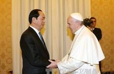 陈大光主席会见罗马天主教皇及梵蒂冈国务卿