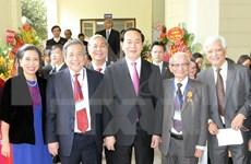 越南国家主席陈大光出席越南历史科学学会成立50周年纪念典礼