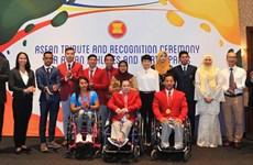 东盟运动员2016年奥运会及残奥会总结表彰大会在雅加达举行
