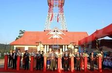 越南援建老挝乌多姆赛省广播电视台交接仪式