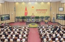 河内市第十五届人民议会第三次会议开幕