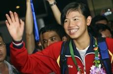 越南游泳名将阮氏映圆参加2016年短池世界锦标赛