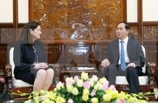 陈大光主席会见美国亚太经合组织国家中心总裁莫妮卡·惠利