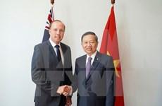 越南公安部部长苏林对澳大利亚进行工作访问