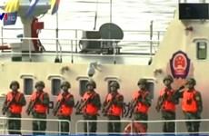 中老缅泰举行湄公河联合巡逻