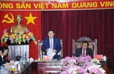 越南政府副总理王庭惠与北件省主要领导干部座谈