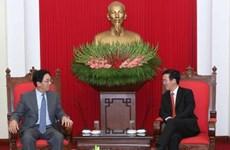 越共中央宣教部部长武文赏会见中国驻越大使洪小勇