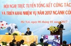 政府总理阮春福出席2017年工商部工作任务部署视频会议