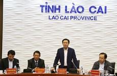 越南政府副总理王廷惠莅临老街省调研