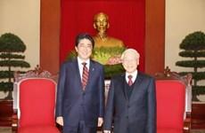 越共中央总书记阮富仲会见日本首相安培晋三
