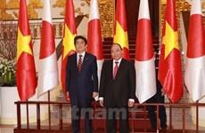 日媒密集报道日本首相安倍晋三访越